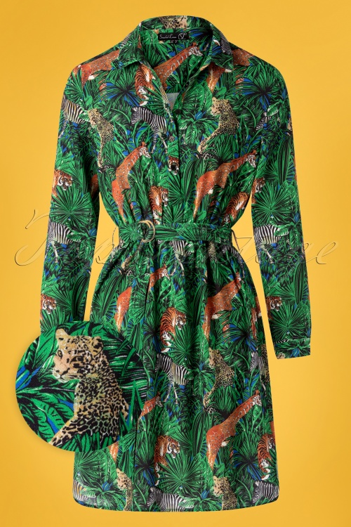 Smashed Lemon 30984 Jungle blouse Dress 20190524 004W1
