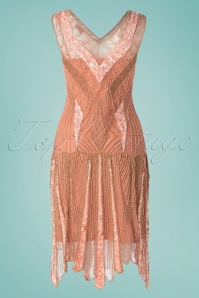 GatsbyLady 30752 20s Renee Flapper Dress in Rose Gold 20190524 009W