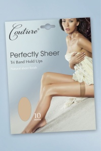 Couture 30873 Perfectly Sheer Tri Band Hold Ups in Nude 20190523 020LW