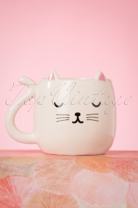 Cutie Cat Shaped Mug Années 60