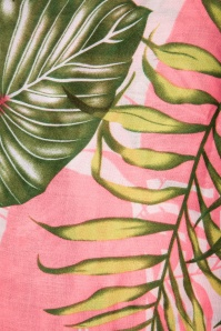 Louche 27973 Scarf Pink Green Tropical Leafs 20190528 006