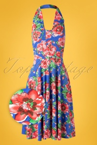 eb1c24125d76ea TopVintage boutique 28928Swingjurk Flowers Blue 20190528 004Z ...