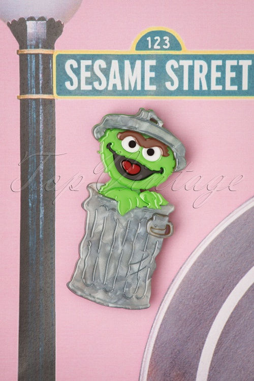 Erst Wilder 30993 Oscar The Grouch Sesame Street Muppet Blue Brown Chocolate Chip 20190529 005
