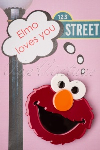 TopVintage exclusive ~ 60s Elmo Brooch in Red