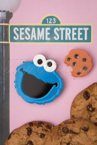 Cookie Monster Brooch Set Années 60 en Bleu