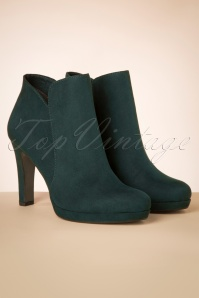 Tamaris 29658 Bottle Ankle Boot Green Blue Suede Heels Boots 20190604 017 W