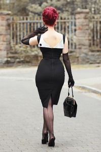 Jazmin Pencil Dress Années 50 en Noir
