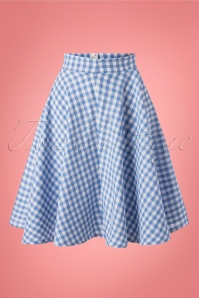 Belsira 29055 Swingskirt Bluewhite Checked 20190605 0006W