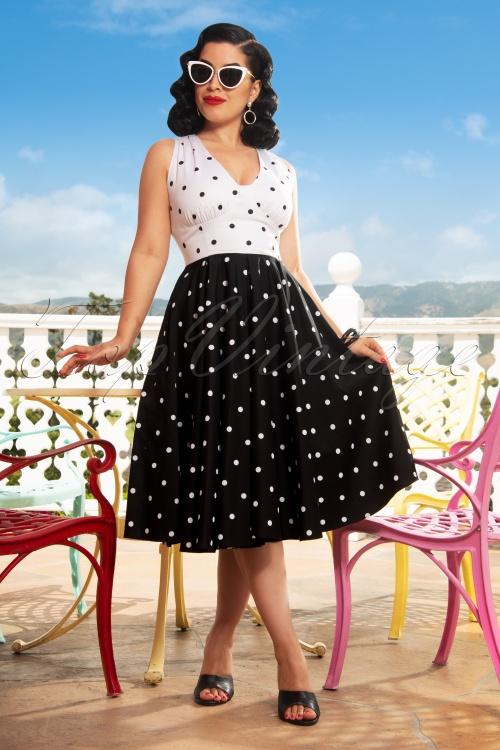 Vintage Diva Esmee Polkadot Dress DSC1070 2W