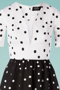 Dolly And Dotty 29148 Swingdress BalckWhite Dots 20190606 0003V
