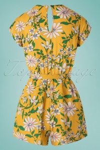 Louche 28163 Playsuit Yellow Floral Short Yello 20190606 0008 W