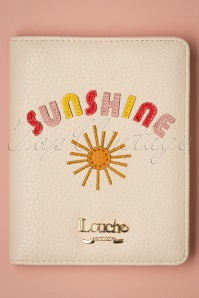 Louche 50s Sunshine Passport Cover in Cream