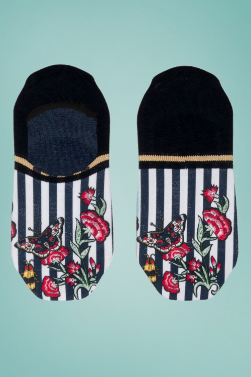 Marcmarcs 31071 Footies Striped White Black Flowers Butterfly Bug 20171128 001 copy