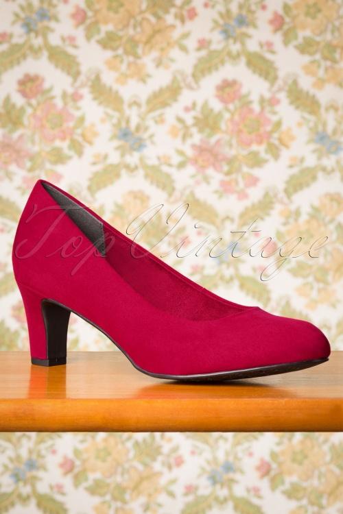 tamaris 29648 Red Heels Pump Lipstick 20190612 007 W