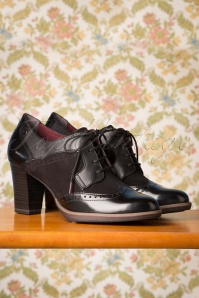 Tamaris 40s Dorothy Shoe Booties in Black