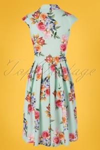 Lady Vintage 30853 Swingdress Eva Floral Roses Mint 20190612 0010W