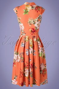 Lady Vintage 30852 Swingdress Eva Floral Apricot 20190612 0004W