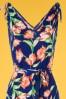 Vintage Chic 30792 Jumpsuit Blue Floral 20190612 0005V