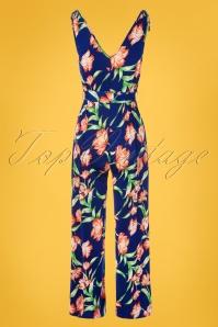 Vintage Chic 30792 Jumpsuit Blue Floral 20190612 0011W