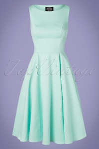 Hearts & Roses 50s Stella Swing Dress in Mint