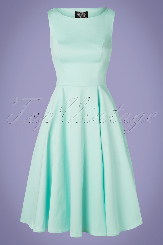 1950s Swing Dresses | 50s Swing Dress 50s Stella Swing Dress in Mint £47.54 AT vintagedancer.com