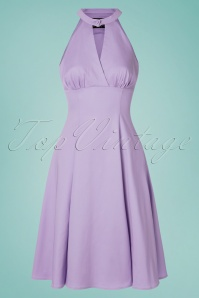 Hearts & Roses 50s Candela Swing Dress in Lavender