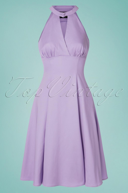 1950s Swing Dresses | 50s Swing Dress 50s Candela Swing Dress in Lavender £38.76 AT vintagedancer.com