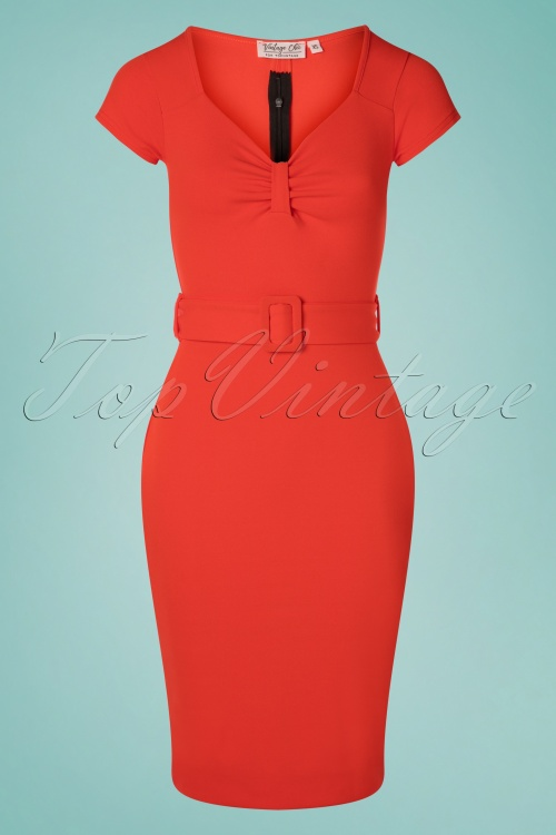 Vintage Chic 30519 Short Sleeve Fiesta Pencil Dress 20190614 003W