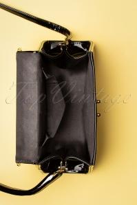 Topvintage Bags 30072Plaint Patent PU Black 20190613 021W