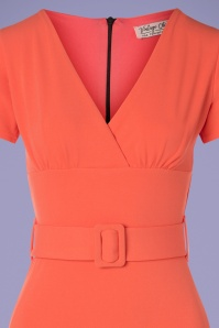 Vintage Chic 30522 Short Sleeve Coral Dress 20190614 005V
