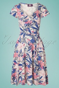 3052987125f033 TopVintage Boutique Collection 30799 50s Fabienne Floral Dress 20190614  003W ...