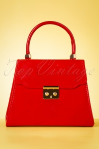 50s Back Me Up Patent Evening Bag in Red