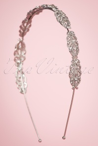 Foxy 20s Art Deco Crystal Hairband in Silver