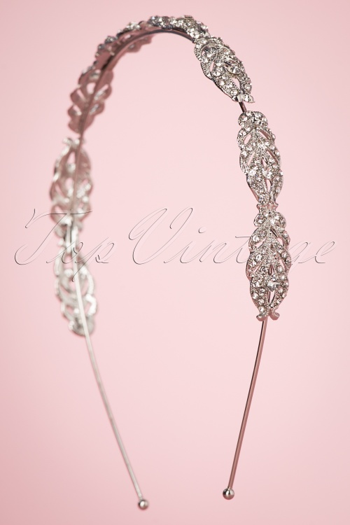 Foxy 30996 Sparkles Hairband Silver Studs Diamonds Sparkle 20190614 007 W