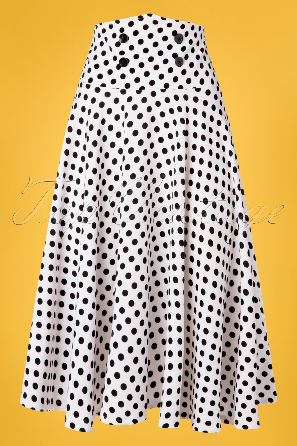 1950 Style Clothing- A Shopping Guide 50s Andrea Polkadot Swing Skirt in White £30.08 AT vintagedancer.com
