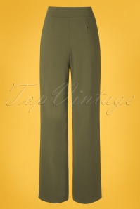 Vintage Chic 31162 Trousers Khaki Wide 20 0007W