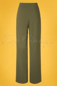 Vintage Chic 31162 Trousers Khaki Wide 20 0007W