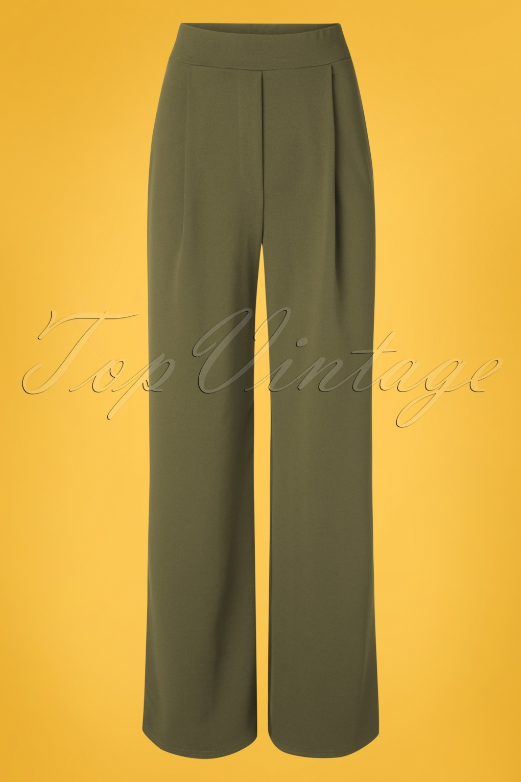 1940s Dresses and Clothing UK | 40s Shoes UK 40s Mira Wide Trousers in Olive Green £45.47 AT vintagedancer.com