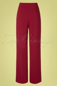 Vintage Chic 31163 Trousers Wine Wide 20 0007W
