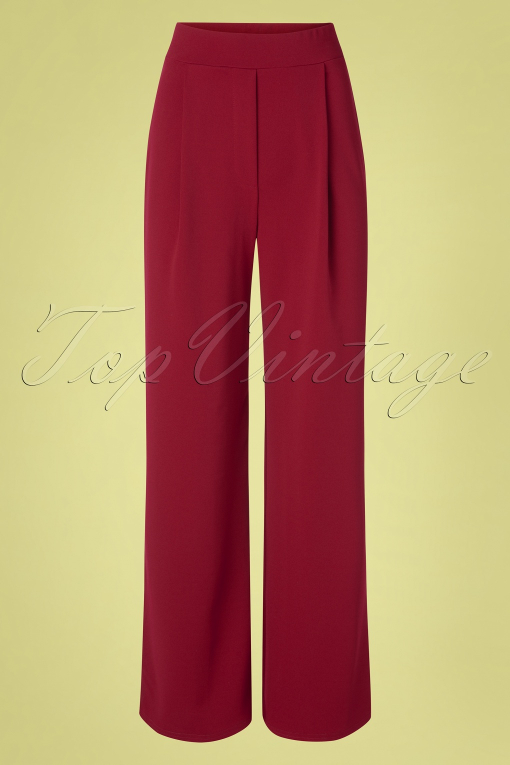 1940s Dresses and Clothing UK | 40s Shoes UK 40s Mira Wide Trousers in Wine £45.47 AT vintagedancer.com