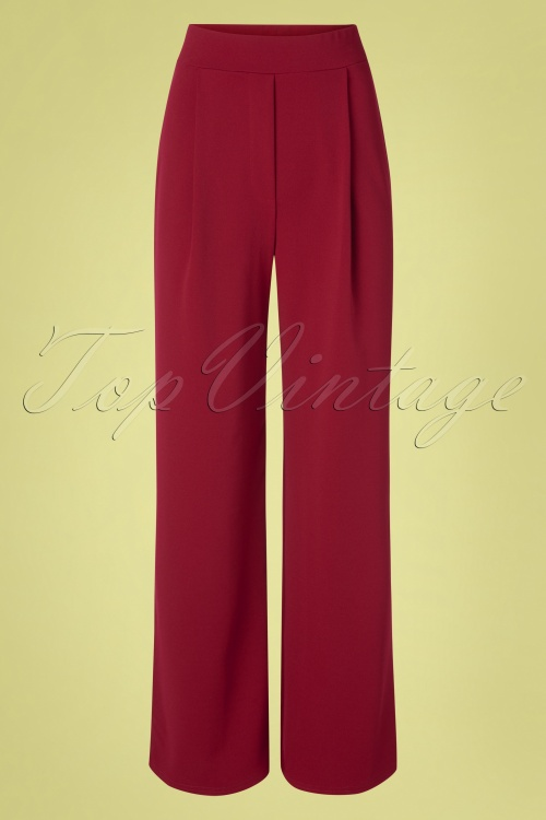 Vintage Chic 31163 Trousers Wine Wide 20 0004W