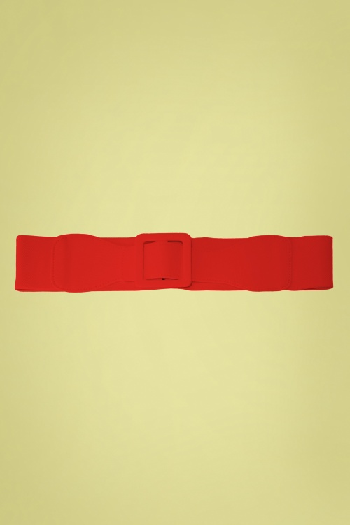Banned Retro 31076 Ladies Day Out Square Belt in Red 20190614 020L copy