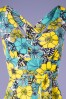 TopVintage BC 30516 Maxidress Blue yelloe Floral Tropical 20190624 0003Top