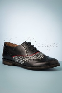 60s Madison Oxford Shoes in Black