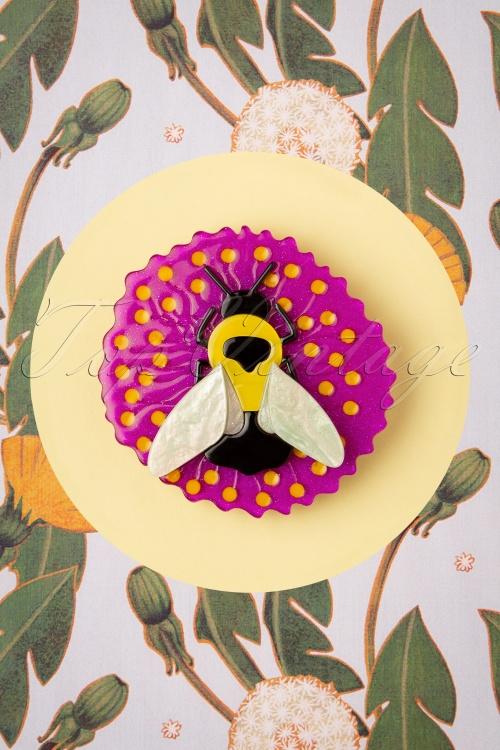 Erstwilder 31201 Brooch Bublebee Burrower Dandelion Flowers 06232019 0001W