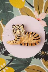 60s Hairy Hobbes Tiger Brooch