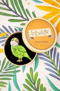 Erstwilder 31203 Brooch Kakapo On Show Tropical Australia 062419 0012W