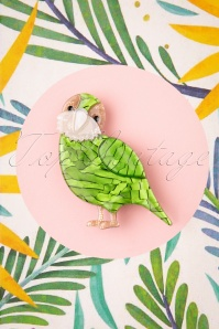 Erstwilder 31203 Brooch Kakapo On Show Tropical Australia 062419 0004W