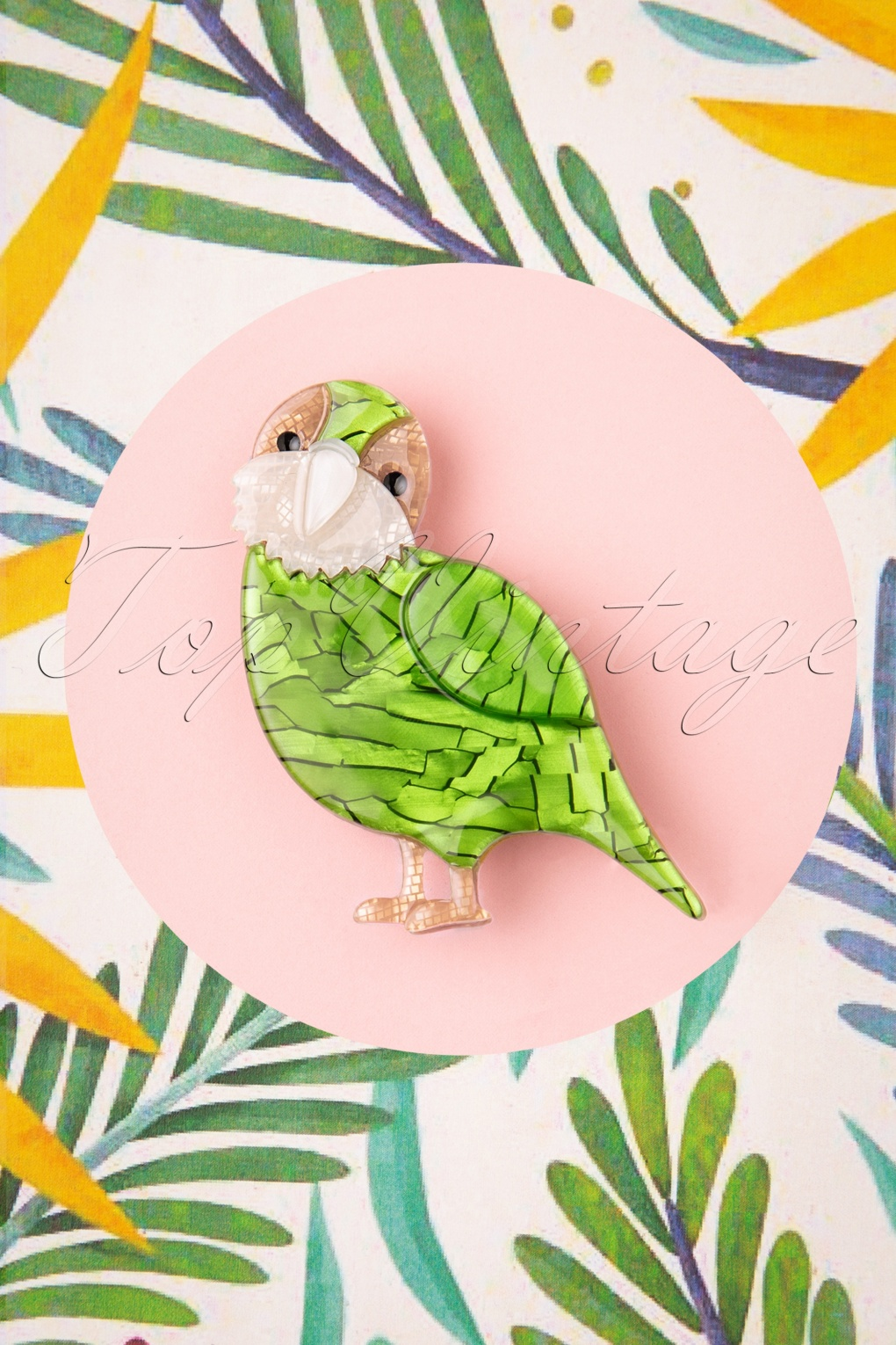 52ff2e41b516 1960s Jewelry Styles and Trends to Wear 60s Kakapo on Show Brooch  25.98 AT  vintagedancer