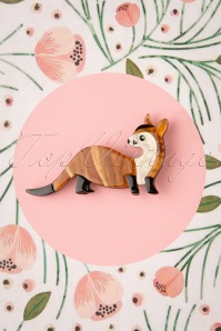 TopVintage exclusive ~ 60s Prince of the Prarie Black-Footed Ferret Brooch